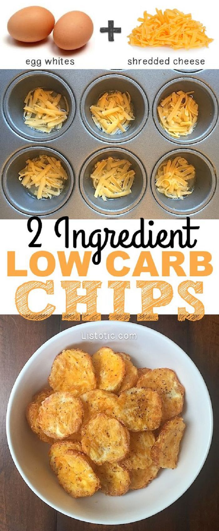 2 Ingredient Low Carb Chips Recipe Easy Snack Recipes Low