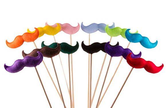 Enfeites de bigode para festas | Coleção de Coisas | 258CD2 - Elo7