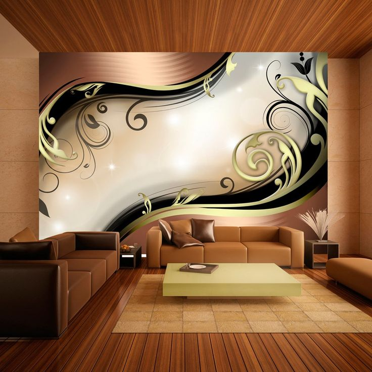 """Wallpaper – Golden glow"" – 3D Wallpaper Murals UK"