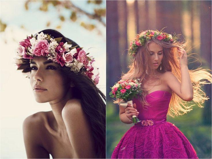 corona di fiori freschi finti secchi come lana del rey tendenza moda accessori estate 2013