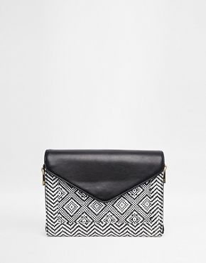 ASOS Aztec Mix Clutch Bag
