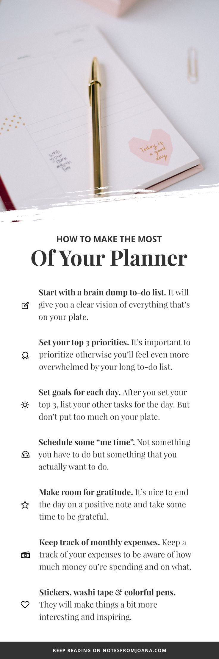 How To Make The Most Of Your Planner. 2018 Planner Set Up. How To Organize Planner. // Notes from Joana