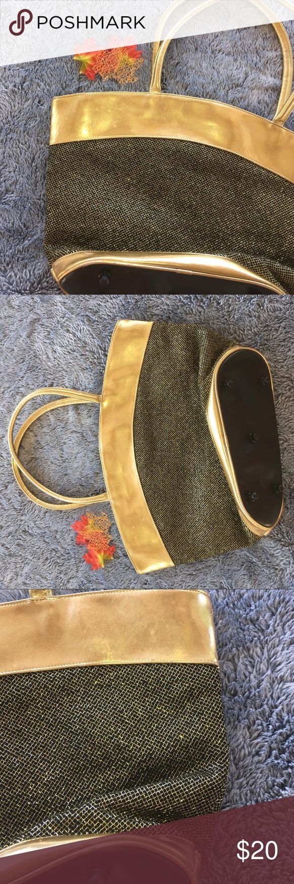 Gold Tote Bag Glitter tote bag in good condition does have a few scratches on the top but still in good condition by Mary Kay 💕 Bags Totes