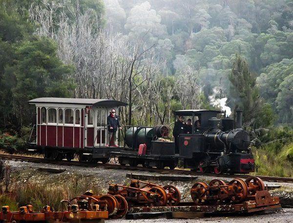 Wee Georgie Wood ~ photo by Carol Haberle, article for think-tasmania.com ~ #Heritage #SteamTrain #Railway #Tullah #Tasmania #WestCoastWilderness #Train