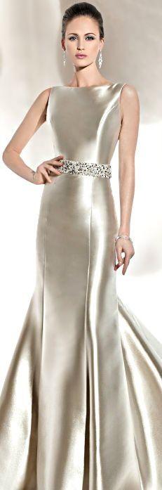 Elegant Silvery Gown