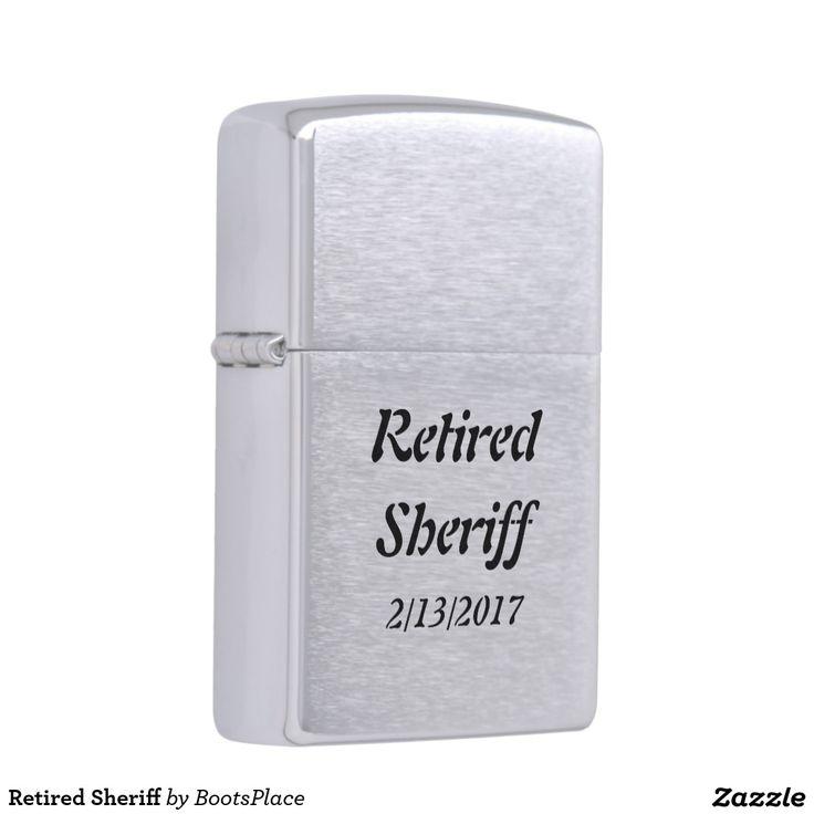 Retired Sheriff Zippo Lighter
