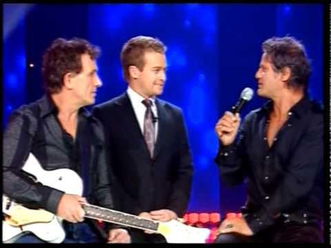 Ian Moss, Jon Stevens and Jack Jones singing Come Together.