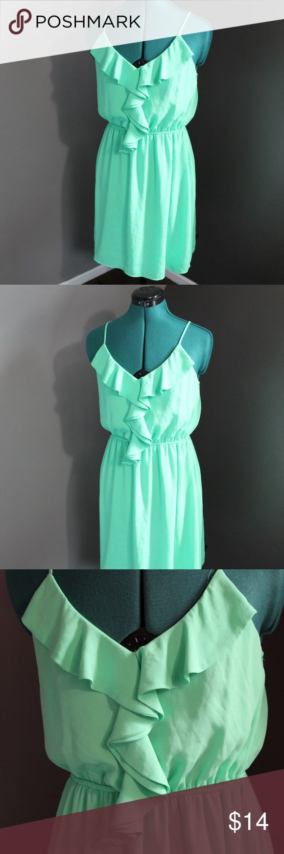 Size medium summer dress Green summer dress size medium. Excellent condition!  18 inches at bust.  BUY THREE GET ONE FREE DEAL. (Choose 4 items, only pay for three) Free item is lowest price item in bundle. Dresses