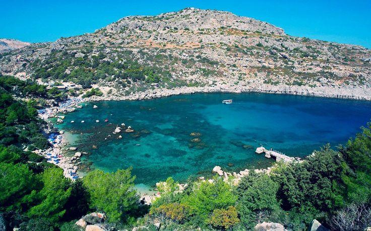 Vakantie Rhodos Faliraki - Anthony Quinn baai//auf den Urlaub 2014 freuen