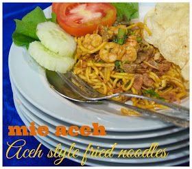Indonesian Medan Food: Mie Aceh Original ( Original Aceh Style Fried Noodles)