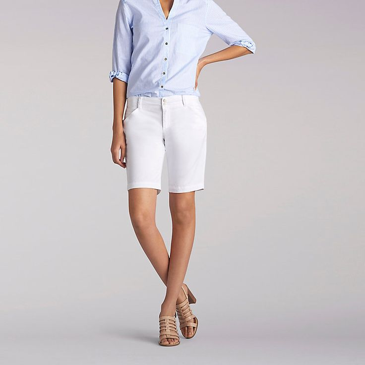 Lee Women's The Essential Chino Bermuda - Petite Shorts (Size 14 x P)