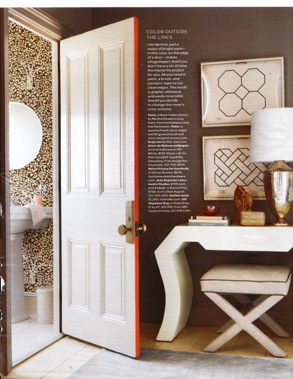 Love the door sides! A fun way to add bright orange.