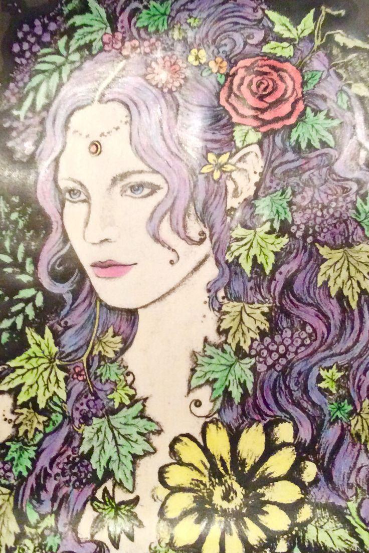 Eleven girl completed                                #purple #elven #art #flower #flowers