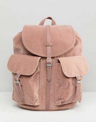 b3a541cc5bf Herschel Dawson Pink Velvet Backpack in 2018