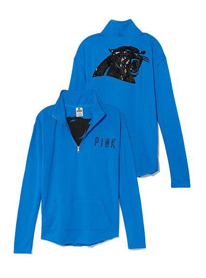 Carolina Panthers Bling Half Zip Pullover PINK  want so bad!!!