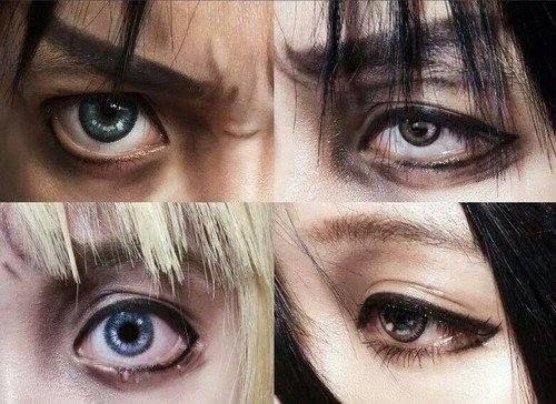 Makeup  Mikasa Makeup  Titanic Eye  Titanic Realism  Titanic CosplayMikasa Ackerman Cosplay Makeup