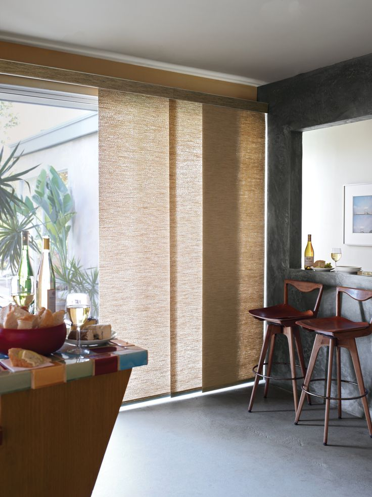 These blinds are so perfect for a sliding door! (hides the agly).