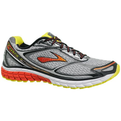 New-Brooks-Ghost-7-Mens-Running-Shoes-Silver-Black-Red