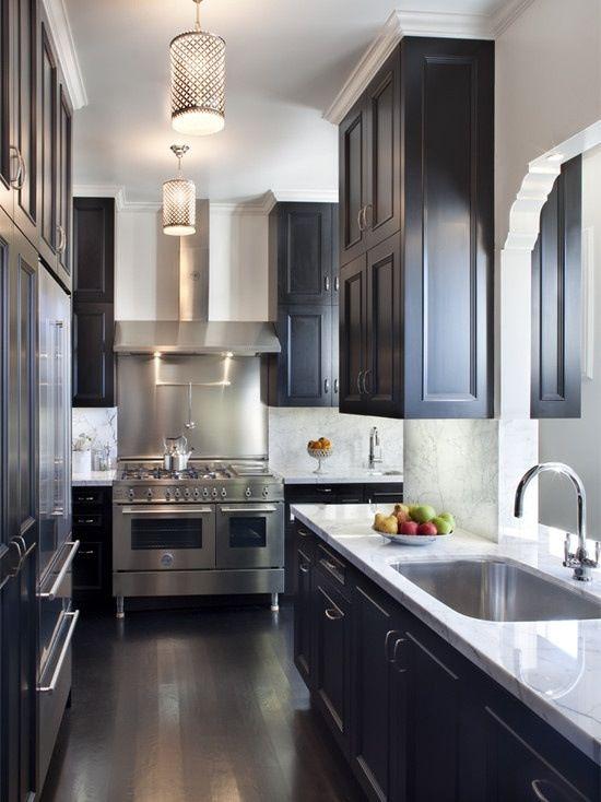 Top 25 ideas about Black Kitchen Cabinets on Pinterest | Dark ...