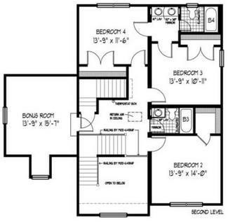 Modular home jack and jill bathroom house plans for Jack and jill bathroom with hall access