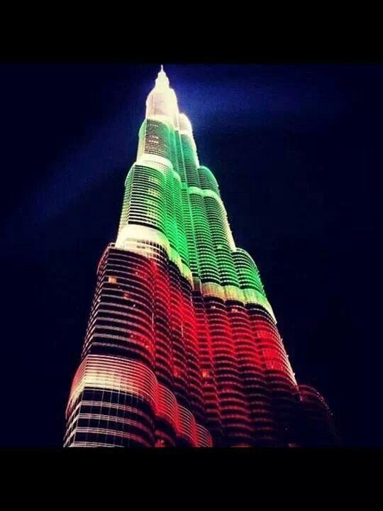 Pride of Dubai .. National Day colours