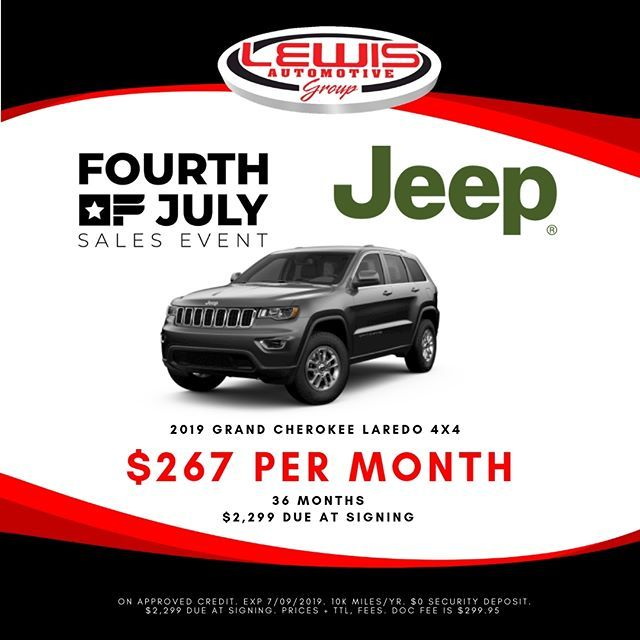 Lease A New Grand Cherokee For Only 267 Month During The Fourth