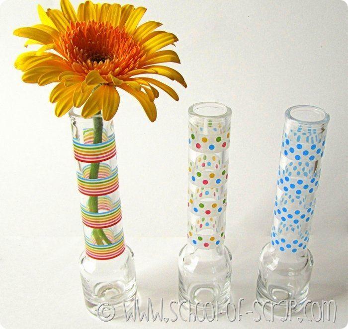 Nápady dekore z 5 minútach: okuliare vodku a Washi páska
