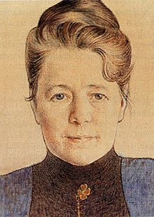 Potrait of author Selma Lagerlöf, painted by Carl Larsson | Målning av Carl Larsson