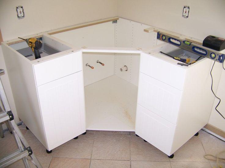 Best Ikea Corner Cabinet Modification For Sink Corner Sink 640 x 480