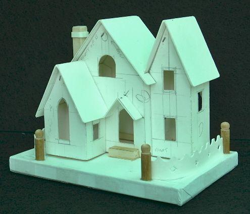 Original home made Christmas putz house