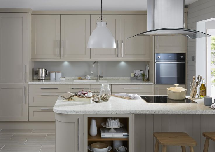 Our Carisbrooke Cashmere kitchen combines the best of timeless craftsmanship with a contemporary finish to bring a traditional Shaker style up to date for modern living in a unique, warm grey shade.