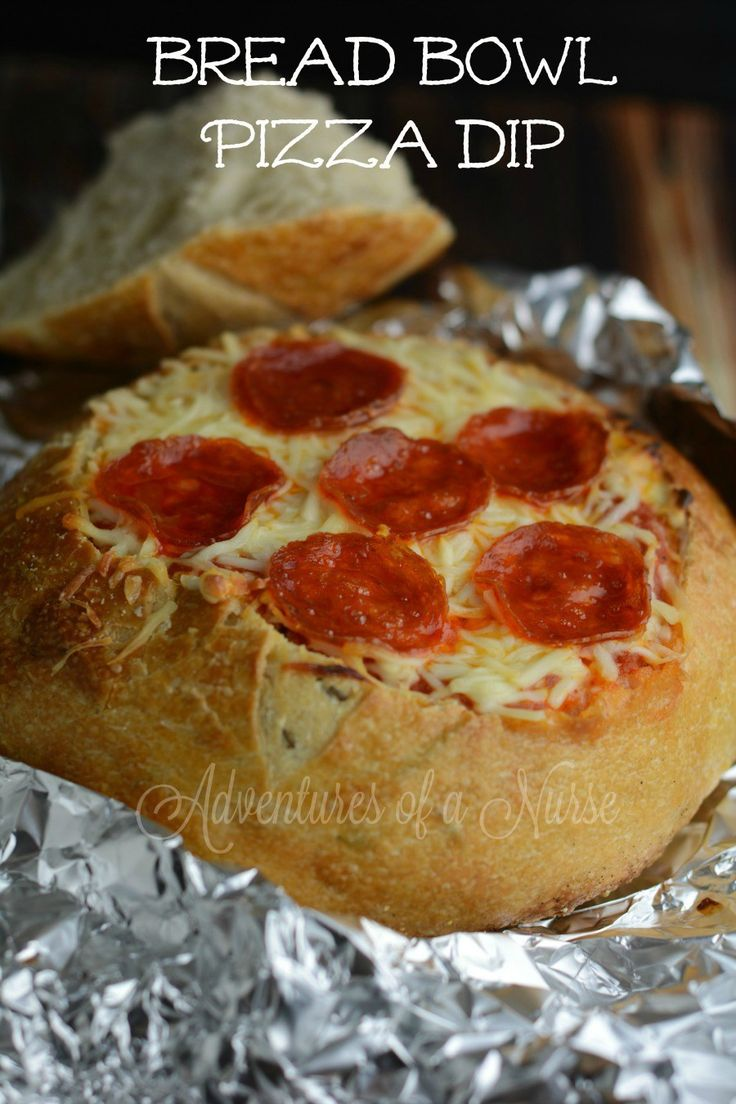 6 INGREDIENTS ONLY!!! - Bread Bowl Pizza                                                                                                                                                                                 More