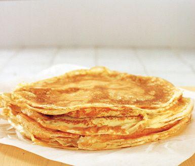 Pannkakssmet till plättar och pannkakor, detta väl beprövade grundrecept får pannkakorna att smaka som de ska! Med smör i smeten behöver du inget extra fett till gräddningen, dessutom ger det en härlig smak till plättarna.
