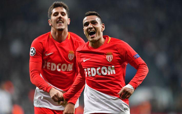 Download wallpapers Stevan Jovetic, Rony Lopes, 4k, AS Monaco, footballers, soccer, Liga 1, FC Monaco