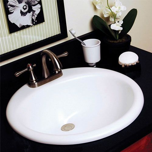 Best Bathroom Redo Images On Pinterest Bathroom Ideas Shower - Black drop in bathroom sink for bathroom decor ideas