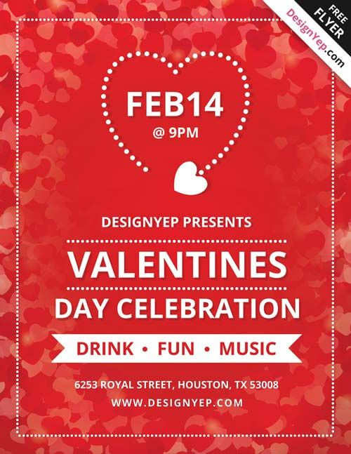 free valentines day flyer design