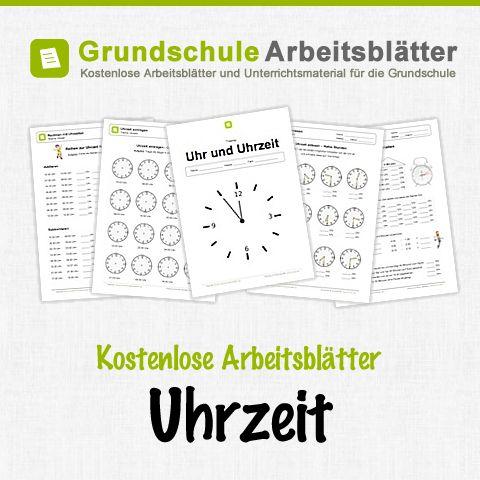 Kostenlose Arbeitsblätter und Unterrichtsmaterial für den Sachunterricht zum Thema Uhrzeit in der Grundschule.