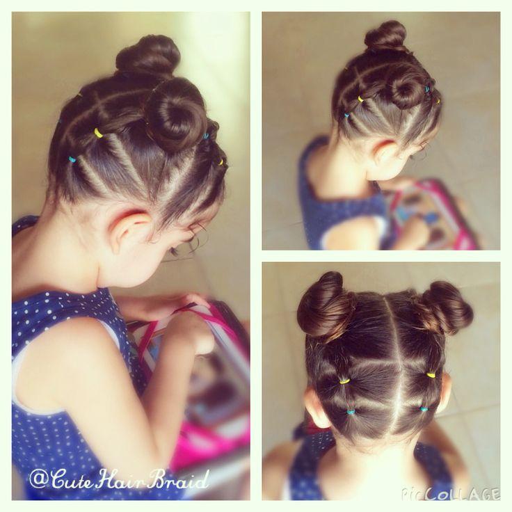 Bun ! Hairstyle for little girls! / peinados para niñas ! Moños