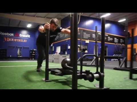▶ Again Faster Drive Sled WOD Demo with Spencer Hendel - YouTube