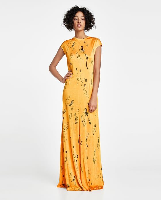 LONG PRINTED DRESS-Collection-MAXI LENGTH-WOMAN | ZARA United States