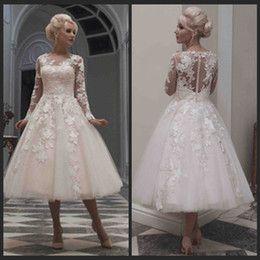 Buy Long Sleeve Short Vintage Wedding Dresses Online from Low Cost Short Vintage Wedding Dresses Wholesalers | DHgate.com