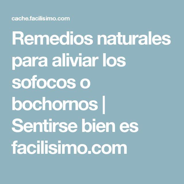 Remedios naturales para aliviar los sofocos o bochornos   Sentirse bien es facilisimo.com