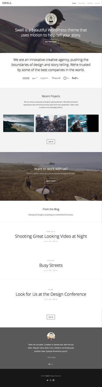 http://sundaestudio.com | Swell WordPress Background Video Theme ☺ ✿