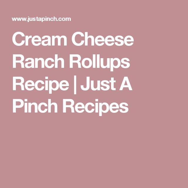 Cream Cheese Ranch Rollups Recipe   Just A Pinch Recipes
