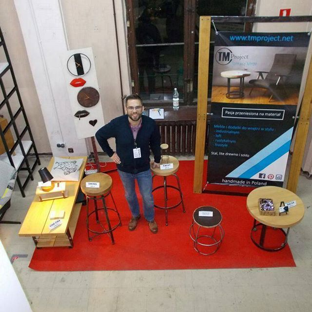 #wroclaw #kontury2016 #tmproject #targi #show #frostyle #furniture #concept #industrial #loft #dizajn #design #home #handmade #homedecore #poland #redcarpet #swiebodzki #newconcept #wood #steel #lawa #stolekbarowy #hoker #stołekbarowy #stolikkawowy #industrialdesigner #designer #loftstyle