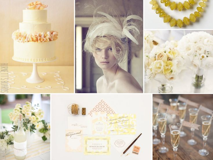 light and pale yellow wedding inspiration - part of the 12 Days of Christmas series - 7 swans a swimming