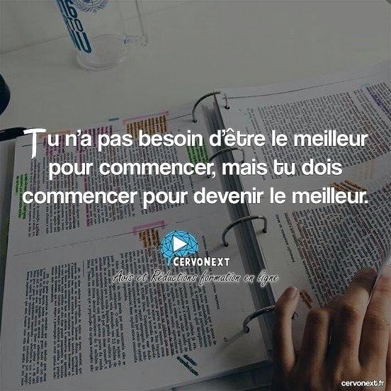 Tu n'as pas besoin d'être le meilleur pour commencer mais tu dois commencer pour être le meilleur. - http://cervonext.fr/ - Follow : @cervonext