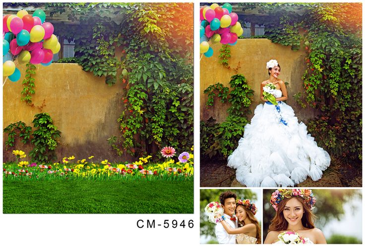 Wedding Backgrounds Photo Studio 5Feet-7Feet Flowers Backdrops Photography Vinly Backdrops For Photography Backgrounds