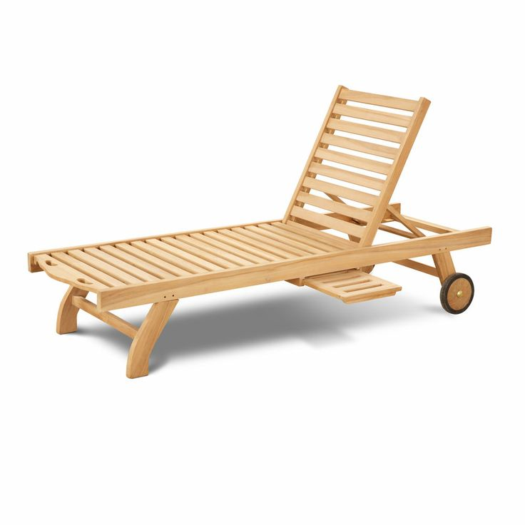 St Mawes Teak Sun Lounger with Pull Out Side Table Wooden Garden Sunbed Hardwood  sc 1 st  Pinterest & 25 best Sunloungers images on Pinterest | Garden furniture Teak ... islam-shia.org