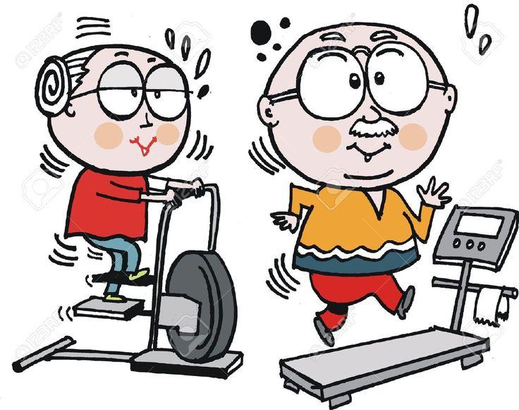 Vector De Dibujos Animados De La Pareja De Ancianos De Trabajo En ...